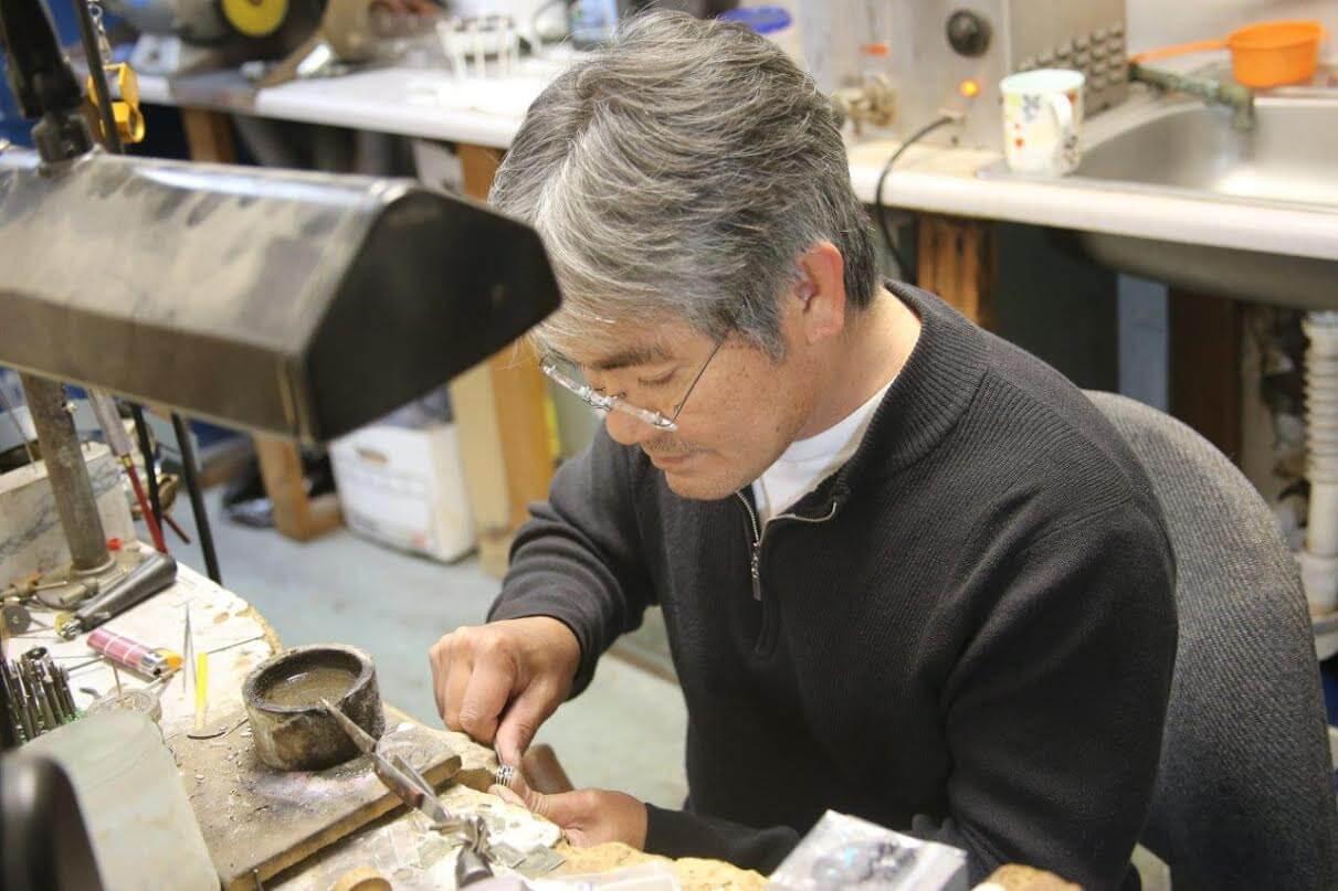 Jeweler working at Gold Rush Jewelers in San Rafael