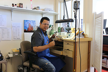 Hugo, jeweler working at Gold Rush Jewelers in Novato, CA