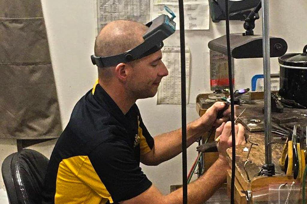Nick Wilson, jeweler working at Gold Rush Jewelers in Rohnert Park, CA