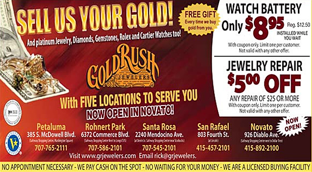 Jewelry stores watch repair gold rush jewelers for Jewelry repair san rafael