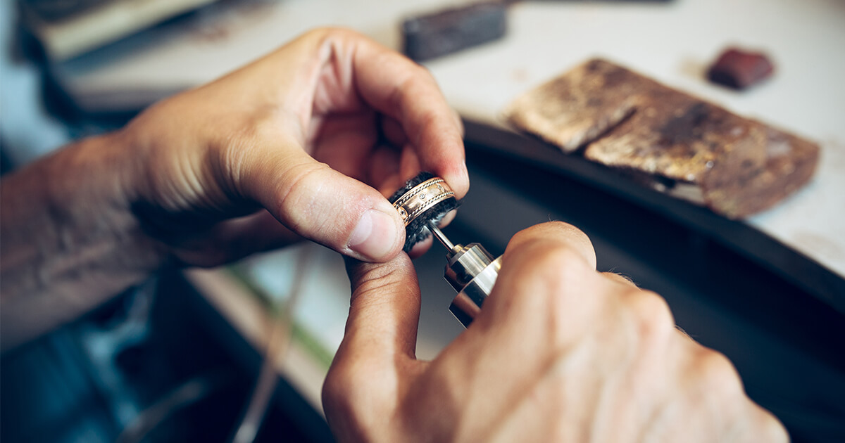 Jewelry repair by a goldsmith jeweler