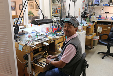 Sonny, our Petaluma jeweler working at Gold Rush Jewelers