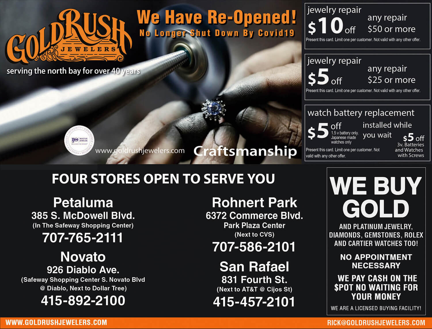 Gold Rush Jewelers Coupon July 2020