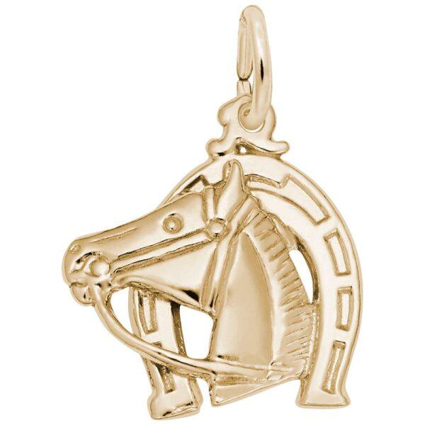 Golden Horse Charm