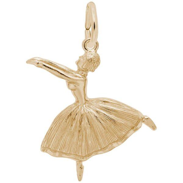 Gold Ballet Dancer Charm