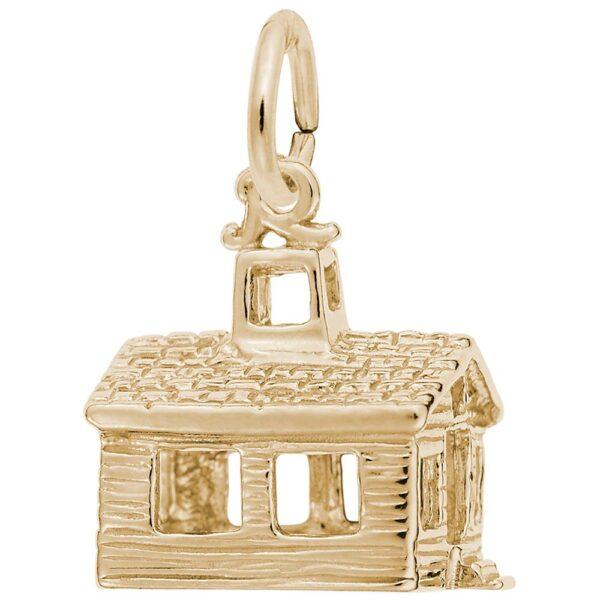 Gold Schoolhouse Charm