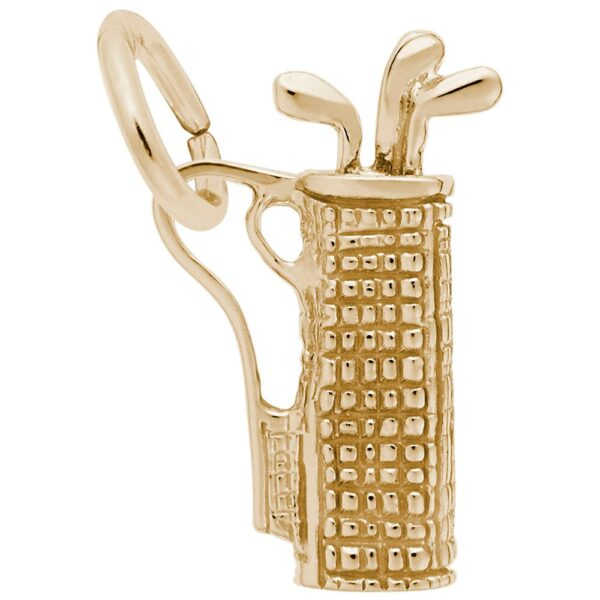 Golden Golf Bag Charm