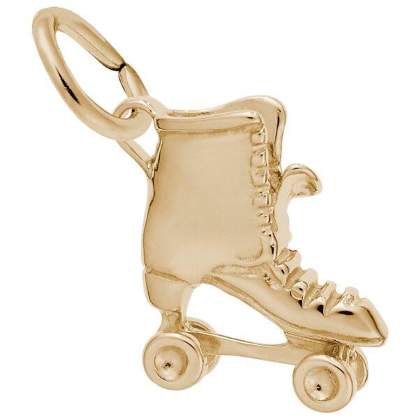 Gold Roller Skate Charm