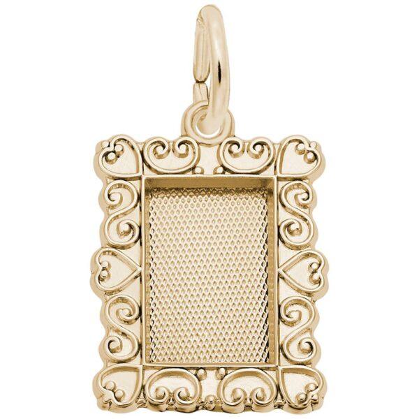 Gold Frame Charm