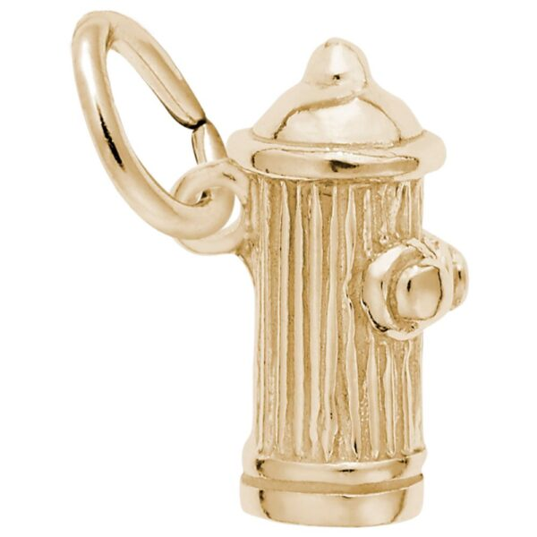 Gold Fire Hydrant Charm
