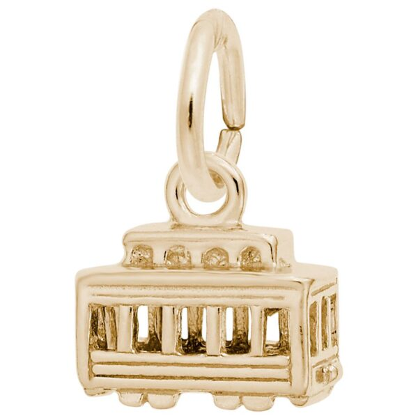 Gold Cable Car Charm