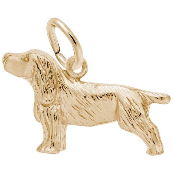 Gold Springer Spaniel Charm