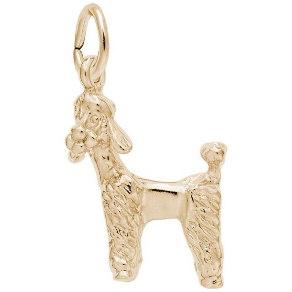 Gold Poodle Charm