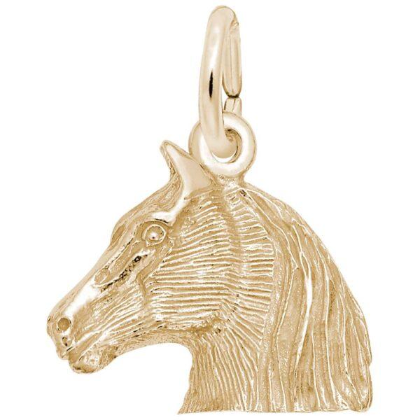 Gold Horse Head Charm