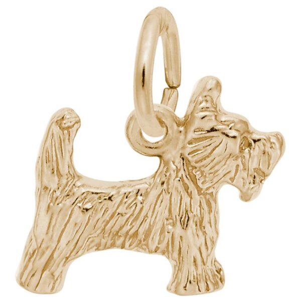 Gold Scottie Charm
